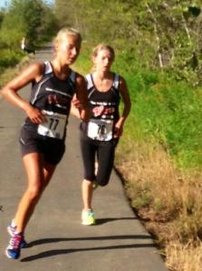Dandy Keddie (left) and Brittany Duval (right) sit 1-2 in the Overall Standings for Senior High School Girls