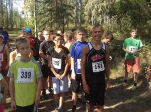 Tyson Keddie (# 151) topped the field in the 3 km distance at the 2013 Steve Burgess Memorial